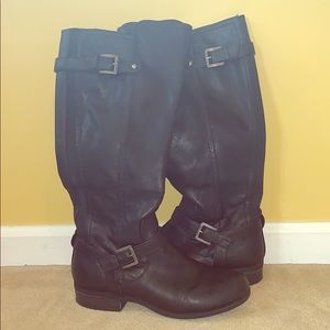G by Guess Black Buckle Boots